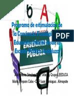 Programa de Estimulacion Conciencia Fonologica