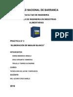 Practica n2 - Elaboracion de Manjarblanco (1)