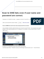 Scan to SMB Fails Even if User Name and Password Are Correct