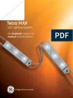GE LED Signage Lighting Tetra Max Data Sheet