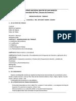 Estructura Del Trabajo-Ing. Antuané Ramos Lázaro