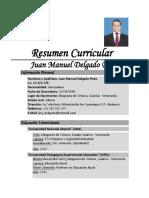 Currículum Vítae Juan Manuel