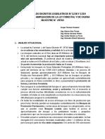 Informe Al Congreso Efectos de Los Decretos Legislativos n