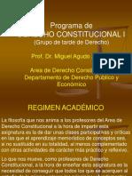 Presentacion Programa Derecho Constitucional