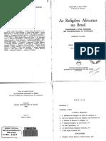 Bastide - Religiões Africanas No Brasil i (Livro)