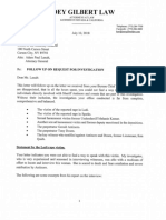 Joey Gilbert letter to AG 7/10