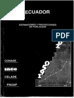 ECUADOR Estimaciones y Proyecciones de Población 1950-2010 1 (1)