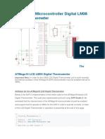 ATMega16 Microcontroller Digital LM35 LCD Thermometer