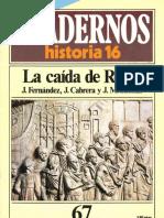 Cuadernos de Historia 16 067 La Caida de Roma 1985
