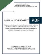 Manual Do Pró Gestão Rpps Versão Final 2018-01-31 2