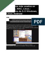 5 Comandos Más Usados en MS Linux Mac