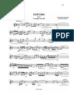 Estudo para Trompete em Dó - Camargo Guarnieri