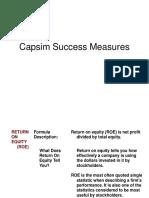 Capsim Success Measures