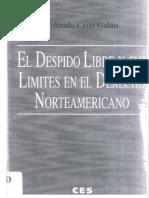 Despido Libre en el Derecho Norteamericano.pdf