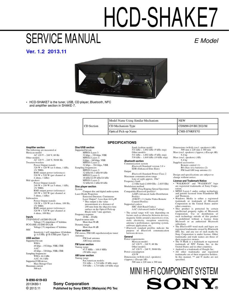 Sony Hcd Shake7 Ver1 2 Pdf