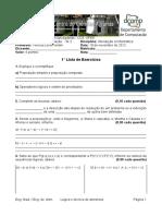 1° Lista de exercícios - Lógica e técnica de programação (Resolvido)
