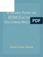 A Review Paper on (EDM) Electrical Discharge Machining