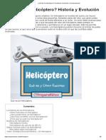 ¿Qué Es Un Helicóptero_ Su Historia, Evolución y Funcionamiento