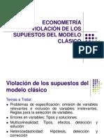 Econometria 7 Violacion de Supuestos