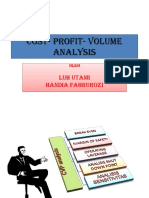 Cost- Profit- Volume Analysis