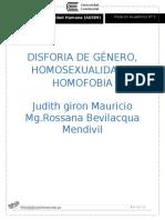 Tarea Dos Homosexualidad Disforia