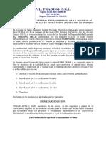Asamblea Pl Trading, 09-02-2015, Corregida y Definitiva