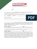 Equipment Borrowing Form (Gangs)