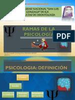 Ramas de La Psicologia