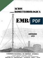Central Nuclear Embalse - EsIA - Tomo 17 - Estación micrometeorológica