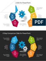 FF0171!01!6 Step Creative Comparison Diagram for Powerpoint