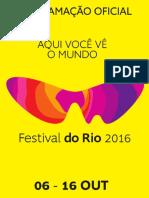 Programação Festival do Rio 2016