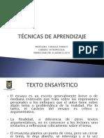TÉCNICAS DE APRENDIZAJE III