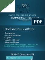 Math Progression Parent Presentation1