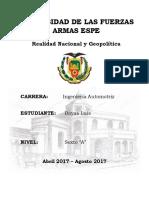 Recesión Económica en El Ecuador 2016 y 2017