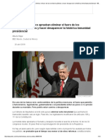 Diputados de México Aprueban Eliminar El Fuero de Los Servidores Públicos y Hacer Desaparecer La Histórica Inmunidad Presidencial - BBC Mundo