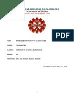 Informe manejo de instrumentos elementales -  (primer informe)