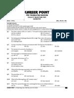 2. Sample Paper (Facutly Selection Test) Chem.