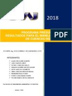 Programa Presupuestal Grupo 2