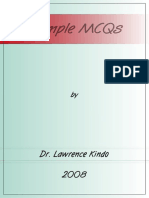 Sample MCQs by Lawrence Kindo