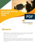 Movilizacion de Equipos Rig - Glosario