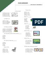 2 Study Worksheet
