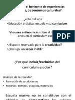 Artes y Curriculum Terigi