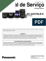 Panasonic Sc Akx70lb k Sm