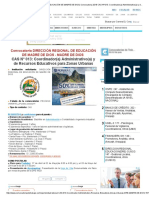(DIRECCIÓN REGIONAL de EDUCACIÓN de MADRE de DIOS) Convocatoria 2018 CAS Nº 013_ Coordinador(a) Administrativo(a) y de Recursos Educativos Para Zonas Urbanas Para MADRE de DIOS