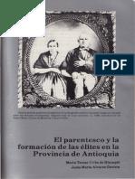 Parentesco Formacion Elites Antioquia
