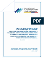 Instructivo Externo BPM Cosméticos PHD y PAHP