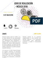 Brochure MISIÓN ACADÉMICA Taller Intensivo de Realización Documental (Lima – Colima) México – Extendido 2018 version 2.pdf.pdf