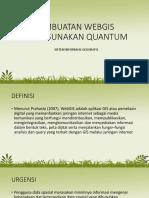 Pembuatan Webgis Menggunakan Quantum