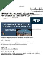 ENCUENTRO NACIONAL DE MÉDICOS RESIDENTES DE NEFROLOGÍA (R-3) - Bienvenida | Sociedad Española de Nef