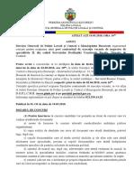 Anunt Conditii Concurs Inspector de Specialitate 19-03-2018